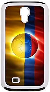 Rikki KnightTM Brazil World Cup 2014 Colombia Team Football Soccer Flag White Tough-It Case Cover for Galaxy S4 4 & 4s (Double Layer case with Silicone Protection)