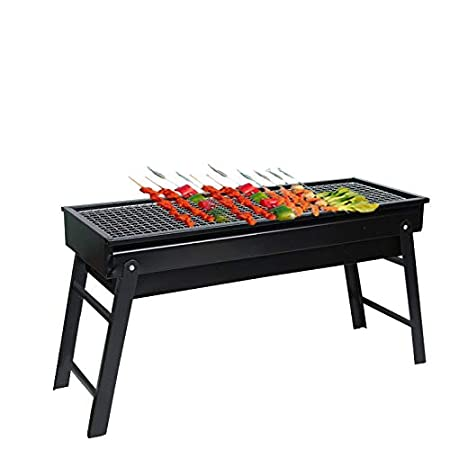 Tavolo Da Giardino Con Barbecue.Qywsj Barbecue Portatile In Fibra Di Carbonio Griglia Pieghevole