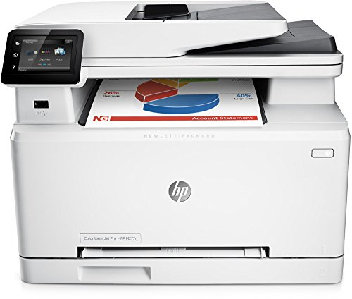 HP Color LaserJet Pro M277n Farblaser Multifunktionsdrucker (Drucker, Scanner, Kopierer, Fax, LAN, HP ePrint, Apple Airprint, USB, 600 x 600 dpi) weiß