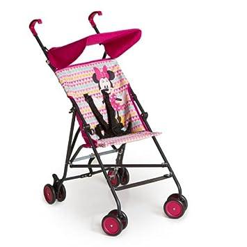 Hauck Sun Plus - Disney silla de paseo compacta y ligera, diseño disney, para bebes de 6 meses a 15 kg, minnie pink (rosa)