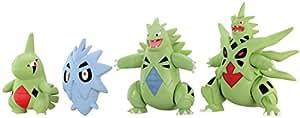 "Takaratomy Pokemon XY Monster Collection Mega Evolution Sinker 2"" Mega Tyranitar Action Figure Pack (4-Piece)"