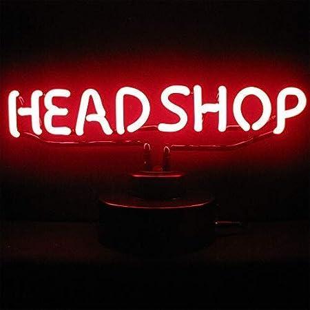 Headshop - Luz - Cartel Publicitario, Neón Firmado: Amazon ...