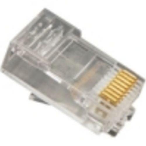 - PLUG, 8P8C, OVAL ENTRY, SOLID, 100PK-Installation Equipment-Wall Jacks/Inserts-I