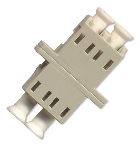 Ultra Spec Cables Fiber Optic Adapter LC to LC Multimode Duplex - Beige