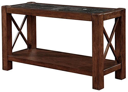 HOMES: Inside + Out IDF-4670S Grenada Sofa Table Grenda, Normal, Brown Cherry