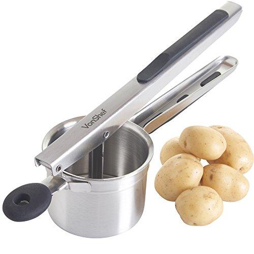 VonShef Professional Stainless Steel Mash Potato Ricer Masher/Fruit Press...