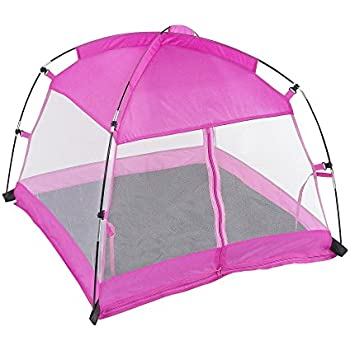 18 Inch Doll Accessories | Amazing Pink Dining Canopy C&ing Tent includes Matching Carry Case  sc 1 st  Amazon.com & Amazon.com: AMERICAN GIRL GREAT OUTDOORS TENT: Toys u0026 Games