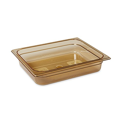 Rubbermaid Commercial Products FG223P00AMBR 1/2 Size 4-Quart Hot Food Pan, Amber by Rubbermaid Commercial Products