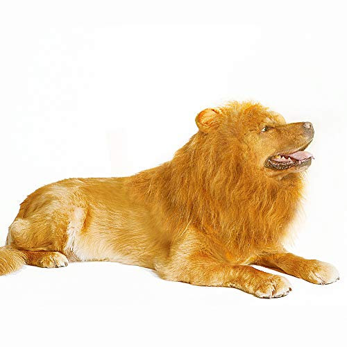 Thedogloveit Dog Hats Lion Mane, Interesting Costumes Gift, Wig, Medium to Large