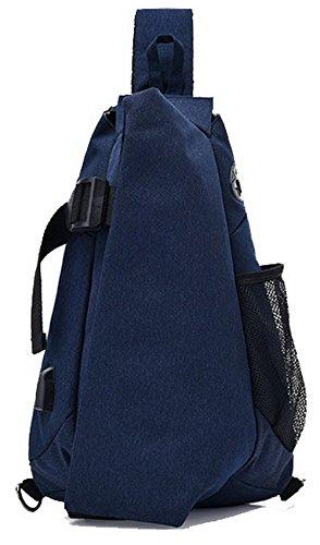 Femme Sacs Dacron Mode Fête à Zippers Cartable Bleu AgooLar bandoulière Bleu fTnpcqdwxy