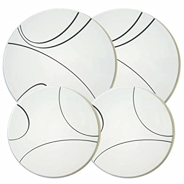 Corelle Coordinates Burner Cover Set of 4, Simple Lines