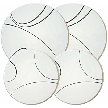 Corelle Coordinates by Reston Lloyd Electric Stovetop Burner Covers, Set of 4, Simple Lines