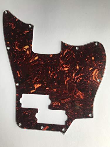 For Squier Jaguar Bass Style Guitar Pickguard,4 Ply Brown Tortoise -