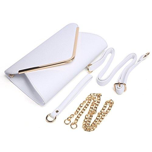 HT Evening Bag - Cartera de mano para mujer blanco