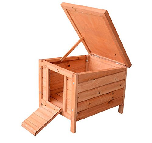 PawHut Small Wooden Bunny Rabbit/Guinea Pig House by PawHut (Image #3)