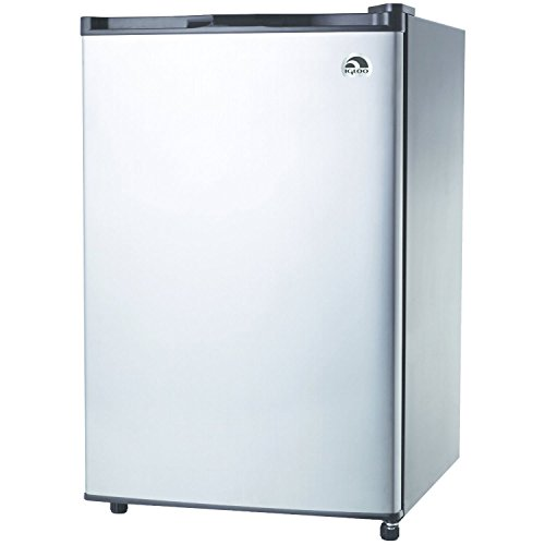 RCA-Igloo 4.6 Cubic Foot Fridge, Stainless Steel