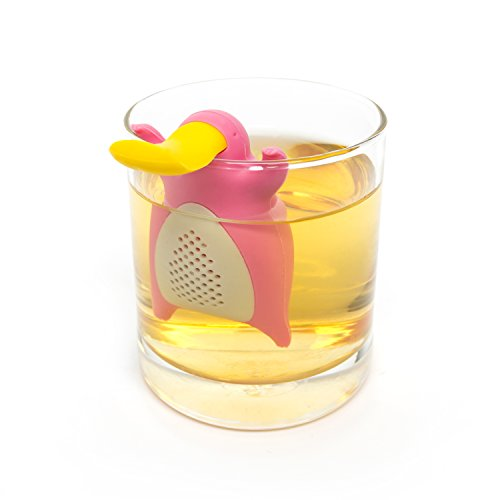 Tea Infuser Gift Set for Loose Leaf Tea, Cute Platypus Tea Strainer Pair in Lovely Gift Box, Ideal Couples Gift, Set of 2, Grey and Pink by MiraMiko (Image #4)