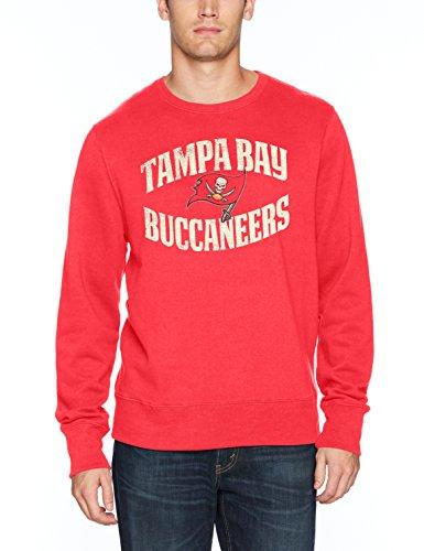 (NFL Tampa Bay Buccaneers Men's OTS Fleece Crew Distressed, Torch Red, Medium )