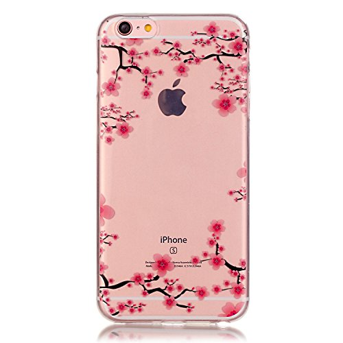 "iPhone 6S Case, Firefish Ultra Slim Soft Flexible TPU Clear Case Anti-Slip [Shock Absorption] Scratch-Resistant Protect for Apple iPhone 6/6S 4.7"" - Flower"