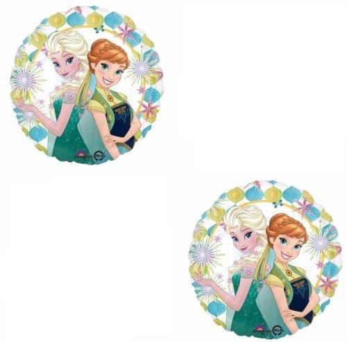 LoonBalloon (2) 18 Disney Frozen Fever Anna & Elsa Summer Party Decorations Mylar Balloons