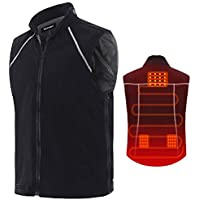 Vinmori Heated Vest Washable Size Adjustable USB Charging Heated Clothing for Motorcycle Snowmobile Bike Riding Hunting Golf (Battery Not Included)