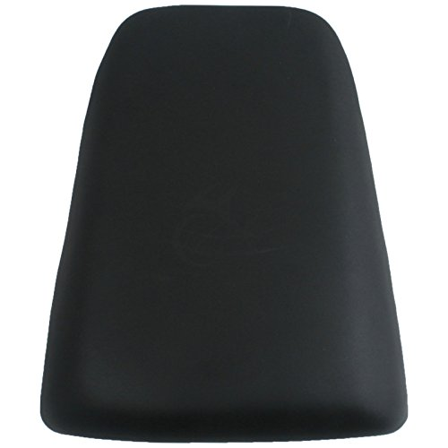 (XFMT Black Motorcycles Leather Rear Pillion Passenger Cushion Seat Compatible with Suzuki SV650 Suzuki SV1000 2003 2004 2005 2006 2007 2008 2009 2010)