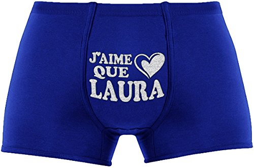 LES Boxers Pour hommes | J'aime Que Laura | cadeau de Saint-Valentin