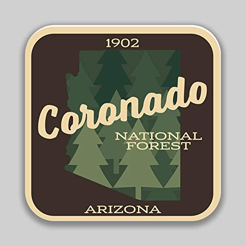 JMM Industries Coronado National Forest Arizona New Mexico Vinyl Decal Sticker Car Window Bumper 2-Pack 4-Inches 4-Inches Premium Quality UV-Protective Laminate PDS1382