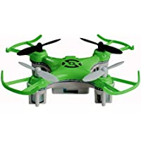 Space Rails Nano 2.4 Ghz 4-Channel X6 Remote Control Quadcopter Drone with Lighting, Green