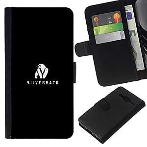 All Phone Most Case / Oferta Especial Cáscara Funda de cuero Monedero Cubierta de proteccion Caso / Wallet Case for Samsung Galaxy Core Prime // Silverback