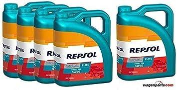 ACEITE MOTOR REPSOL ELITE TDI 50501 5W-40 5 litros (25 litros)