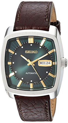 Seiko Men's Recraft Series Automatic Leather Casual Watch (Model: SNKP27) (Seiko Watches For Men Ssc)