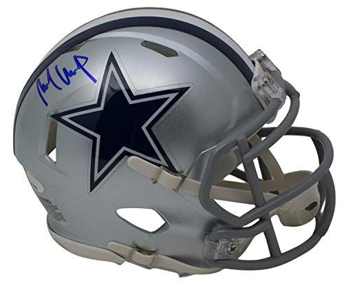 Michael Gallup Signed Dallas Cowboys Mini Speed Helmet Blue Ink TriStar Dallas Stars Mini Hockey Helmet