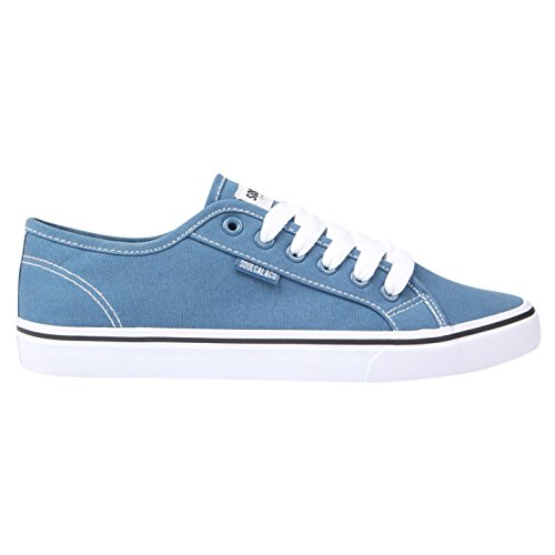 SoulCal Mens Sunrise Lace Up Canvas Lo Shoes Trainers Footwear Blue