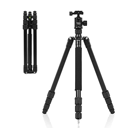 Selens 61' Modular Professional Outdoor Tripod with Panorama Ball Head with Carrying Bag, Black (TA-462)
