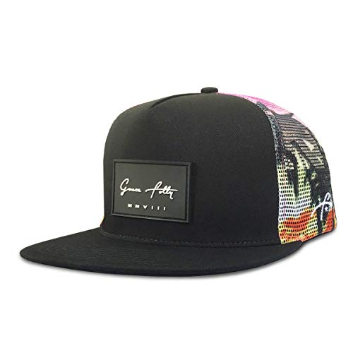 - Grace Folly Trucker Hat for Men & Women. Snapback Mesh Caps (One Size, Sunset Beach)