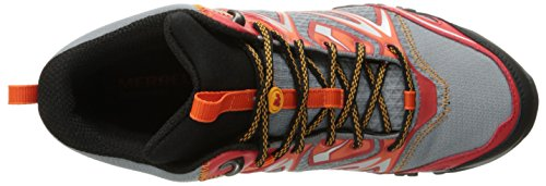 Merrell Capra Perno de mediana bota impermeable Bright Red