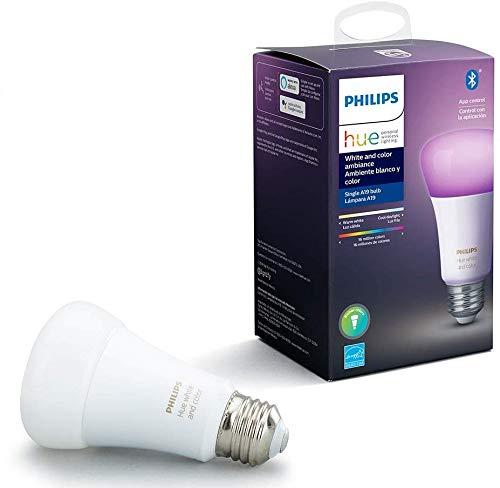 Philips Hue White & Color Ambiance Lâmpada E27 220V - Iluminação Inteligente Controlada Por Wifi E Bluetooth, compatível com Amazon Alexa.