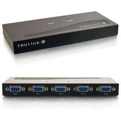 Cables To Go TruLink 4-Port UXGA Monitor Splitter/Extender (Female Input) - Black