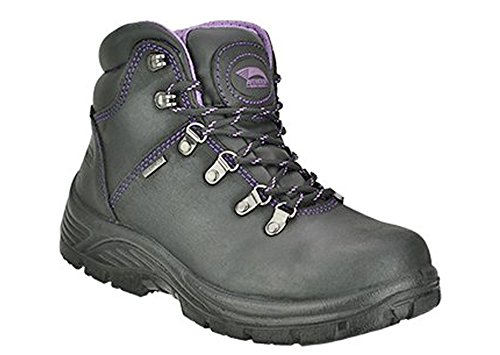 Avenger Safety Footwear Women's Avenger 7124 Waterproof Safety Toe EH SR Hiker Industrial and Construction Shoe, Black, 6.5 M US