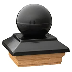 deckorators 76644Victoria bola negra de Post con tratada Base color: negro Post Tapa con base tratada, Modelo: 76644, Tools & hardware Store