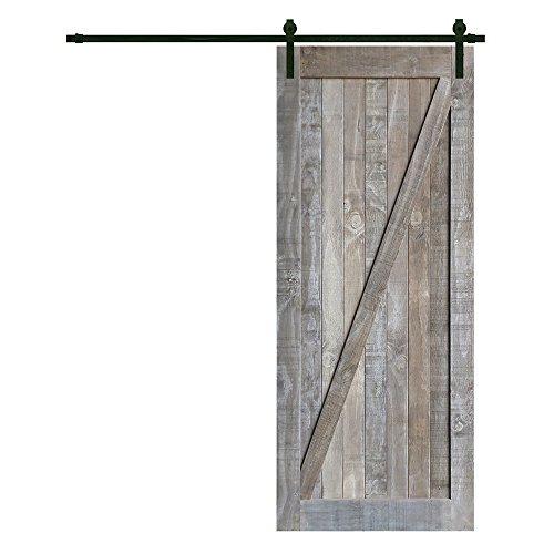 Heavy Duty Sturdy Sliding Barn Door - Solid Knotty Barn Wood Door Interior Outdoor DIY Painted Slab 36