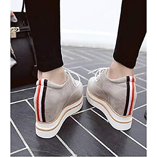 Gray Estate CN38 Scarpe Nero 5 Sneakers Primavera Donna Poliuretano US7 Comoda UK5 5 Grigio Plateau Per TTSHOES EU38 PU gAwYB17qq