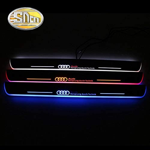 Hongyingcar LED Moving Door Scuff Led Door Ssill For Audi A5//S5//RS5 2008-2015 white light 2Pcs Front Door By
