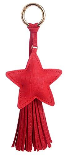 Giftale Leather Tassel Keychain for Women Handbag Charms Purse Accessories #1208-13