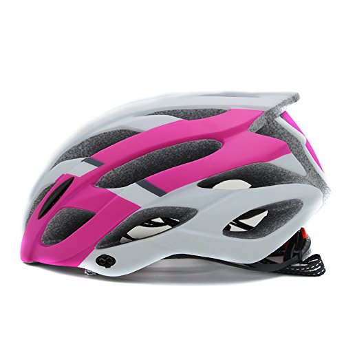 - Adjustable Thrasher Adult Cycling Helmet, Elastic Ultralight Inner Padding Chin Protector and visor Mountain Bike Cycling Helmet Men/ Women (pink)