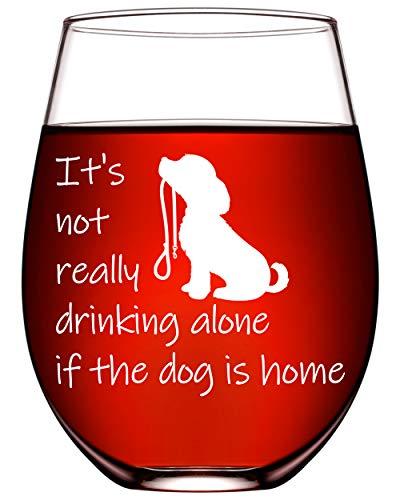 Dog Lover Gifts For Him Her Funny Wine Glasses Dog Gifts For Women Birthday Dog Mom Gifts Dog Dad Vet Tech Dog 17oz…
