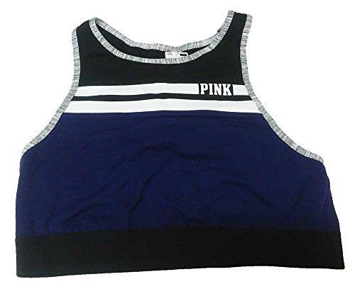 Victoria's Secret Women's Pink Reverse Racerback Bra Top Medium (A-C) Dark Navy Purple