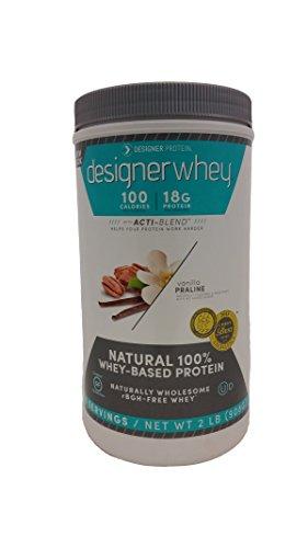 Designer Whey Premium Natural 100% Whey Protein, Vanilla Praline, 2lb