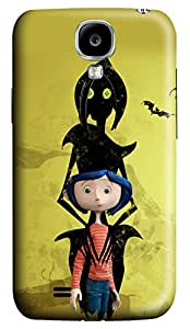 Samsung Galaxy S4 Case, S4 Case - Protection Hard Case Cover for Samsung Galaxy S4 I9500 with Dakota Fanning In Coraline I 3D Print Pattern Scratch-Resistant Case for Samsung Galaxy S4 I9500